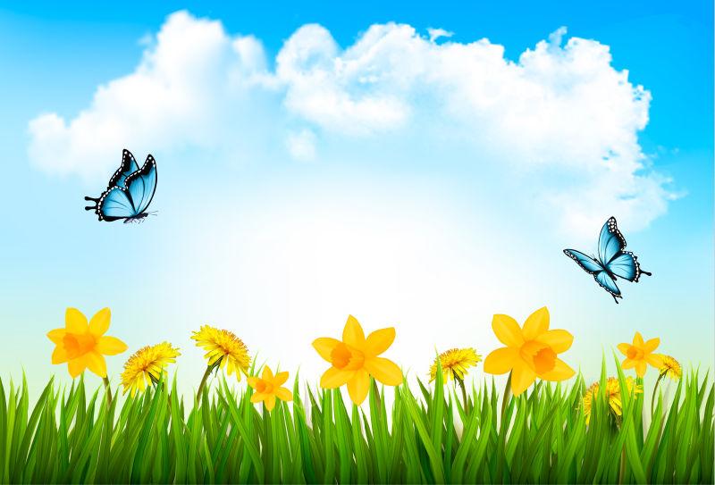 创意矢量现代春天主题自然背景设计