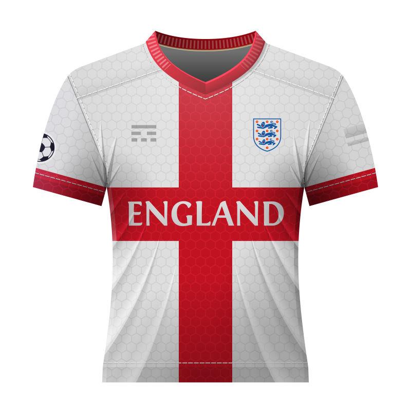 抽象矢量英格兰国家队球衣设计