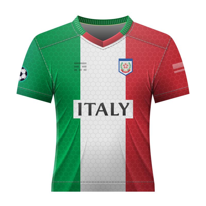 抽象矢量意大利国家队球衣设计