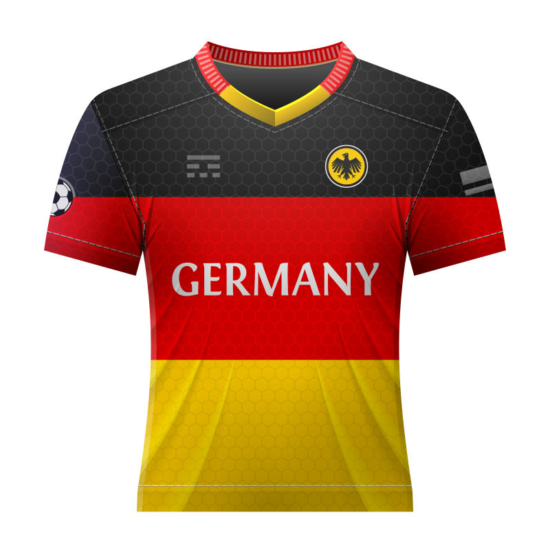 抽象矢量德国国家队球衣设计