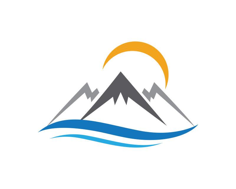 山脉标志模板