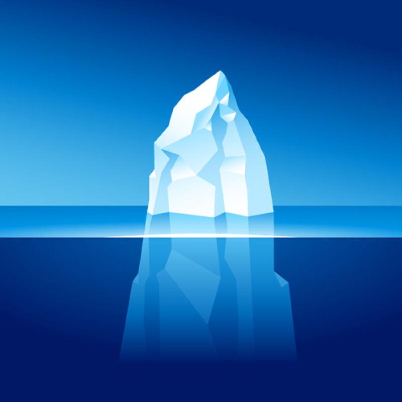 抽象矢量海上漂浮的冰山插图设计
