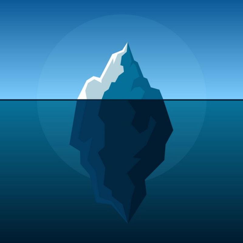 创意矢量现代海面上的冰山插图设计