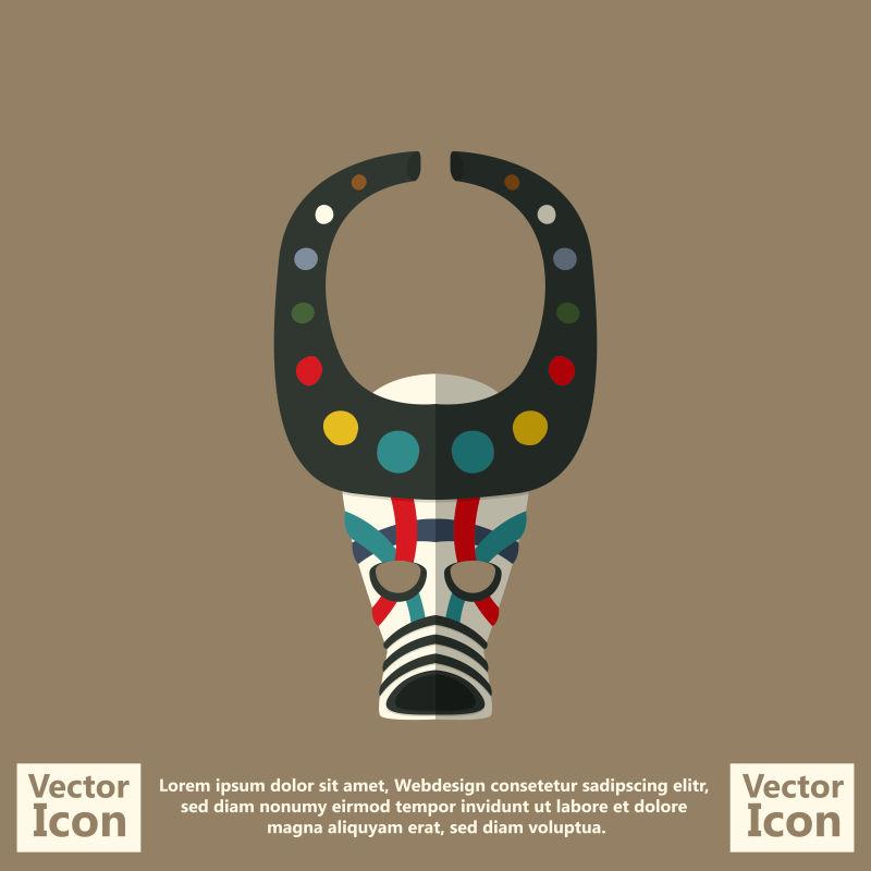 创意矢量现代卡通部落面具设计