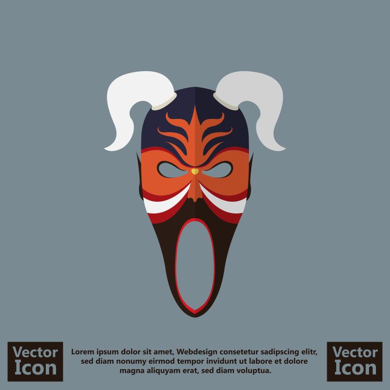 抽象矢量现代部落面具设计