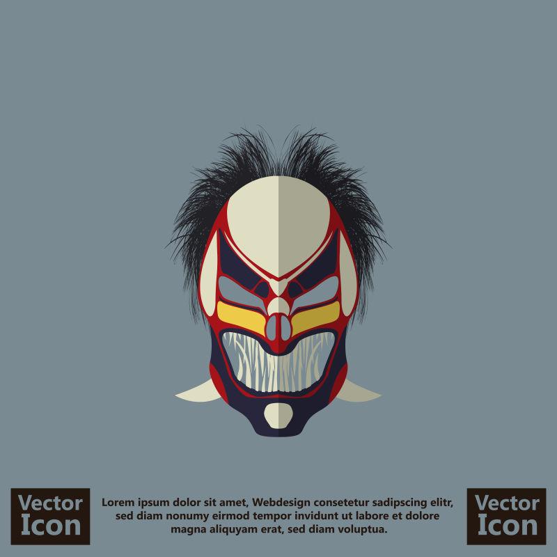 创意矢量现代部落面具设计插图