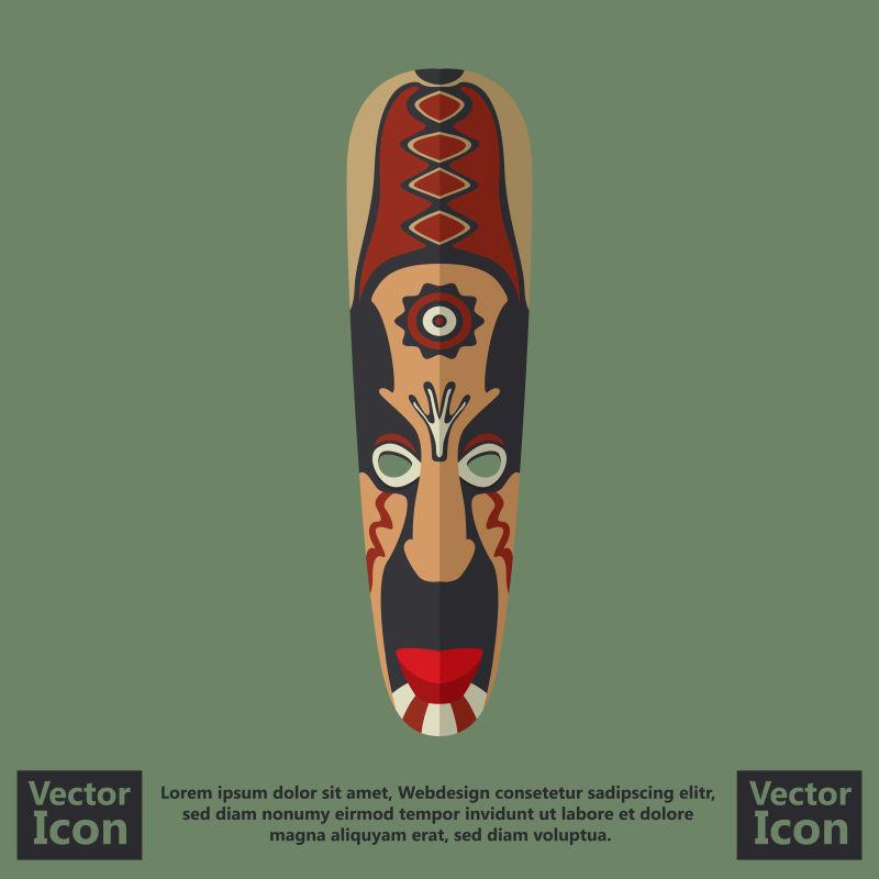 抽象矢量现代民族面具创意设计