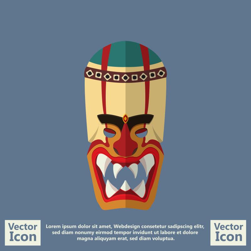 创意矢量现代民族部落面具设计