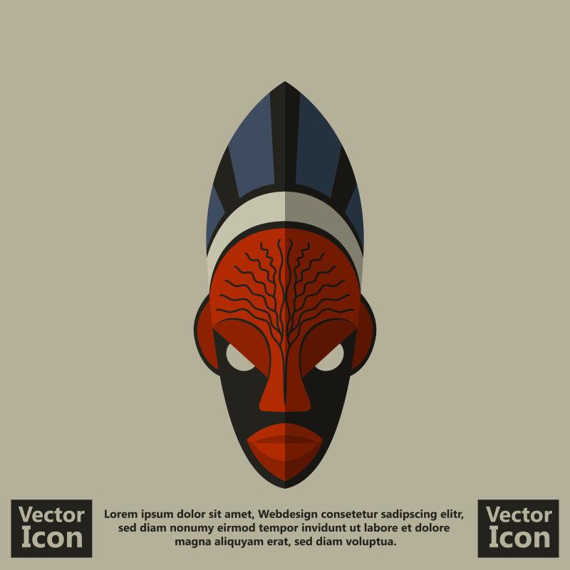 抽象矢量卡通部落面具设计