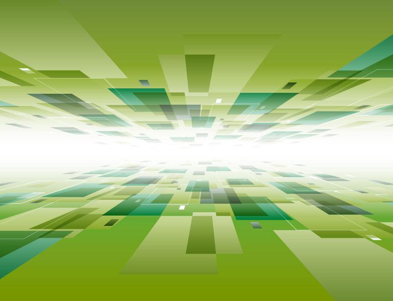虚拟空间:网络空间、虚拟现实和信息技术等主题的抽象图形