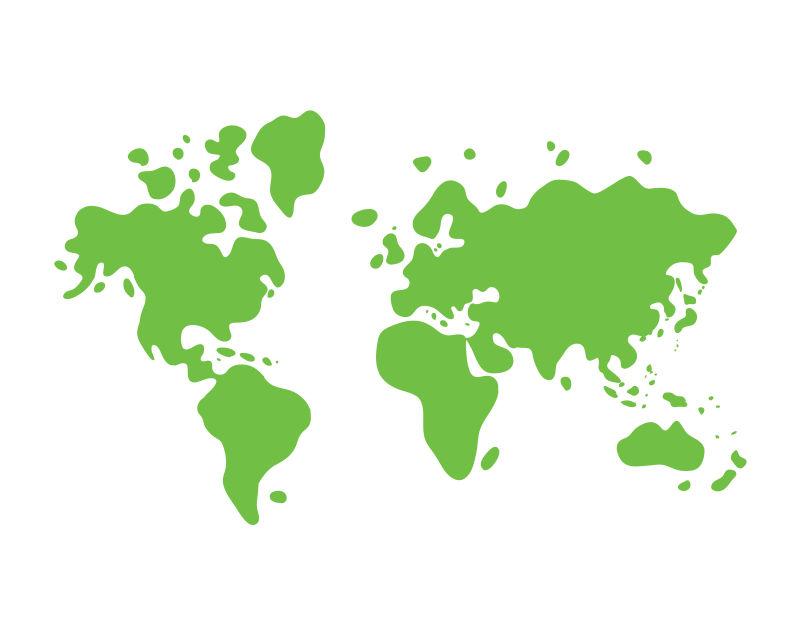 抽象矢量现代绿色世界地图设计