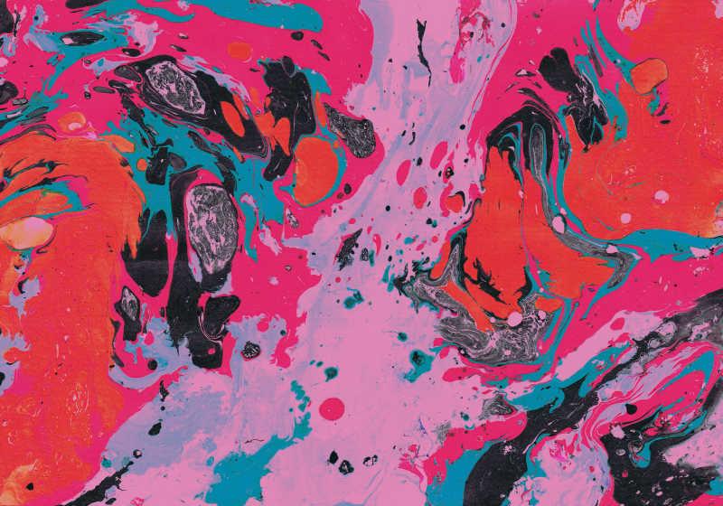 红粉抽象画