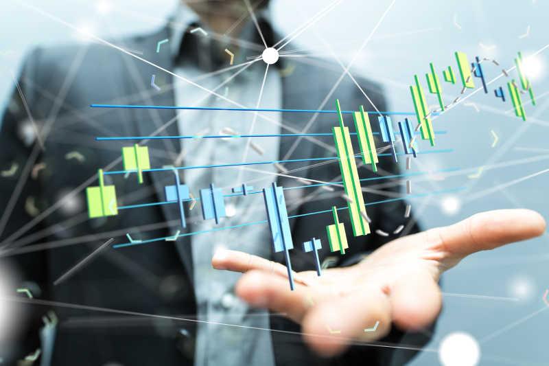 财务信息走势概念图