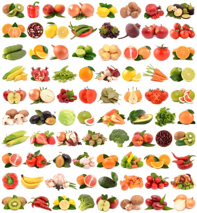 新鲜的水果蔬菜