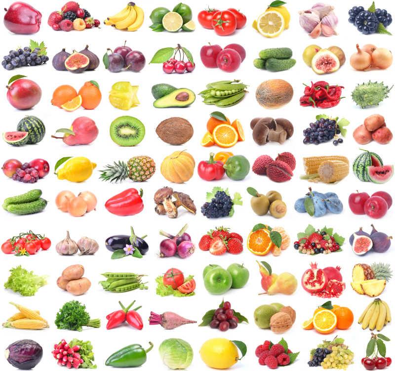 各种蔬菜和各种水果