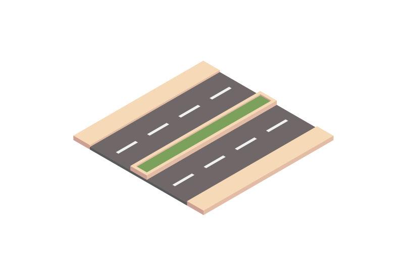 道路单元-双车道道路-等距的