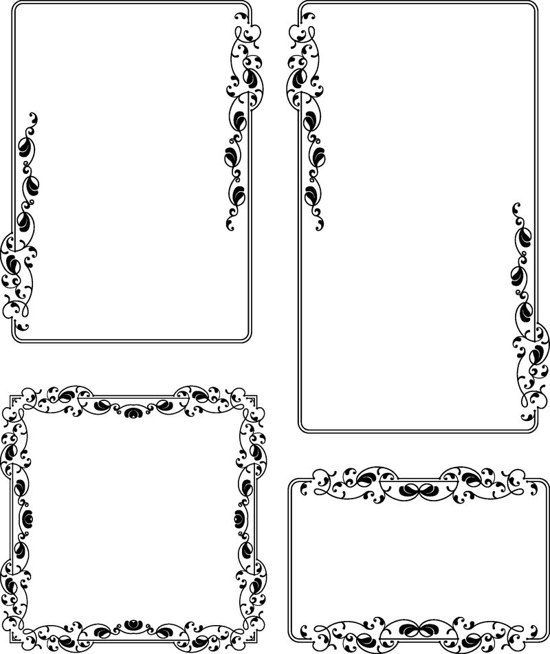 框架边框设计矢量艺术插图