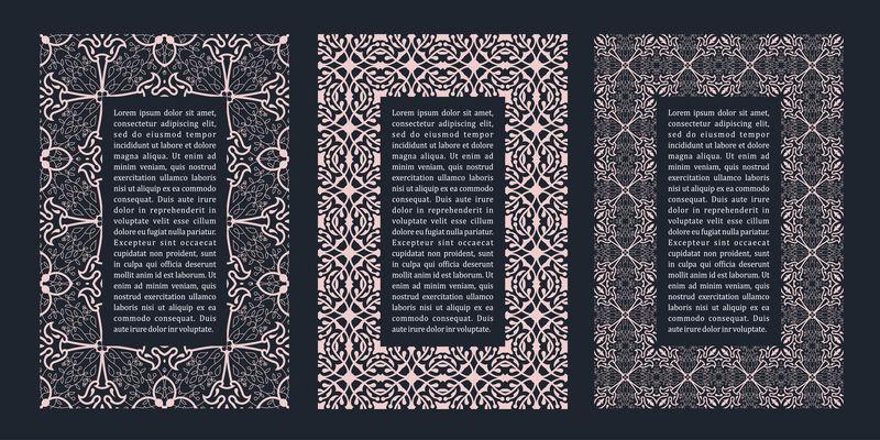 东方金阿拉伯矢量线设计模板卡片和明信片用穆斯林花架