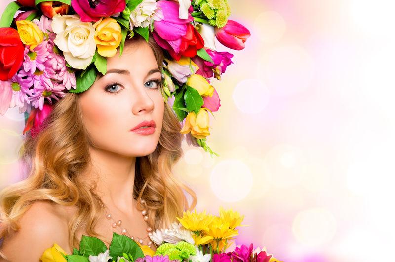 春女人。花式美容人像