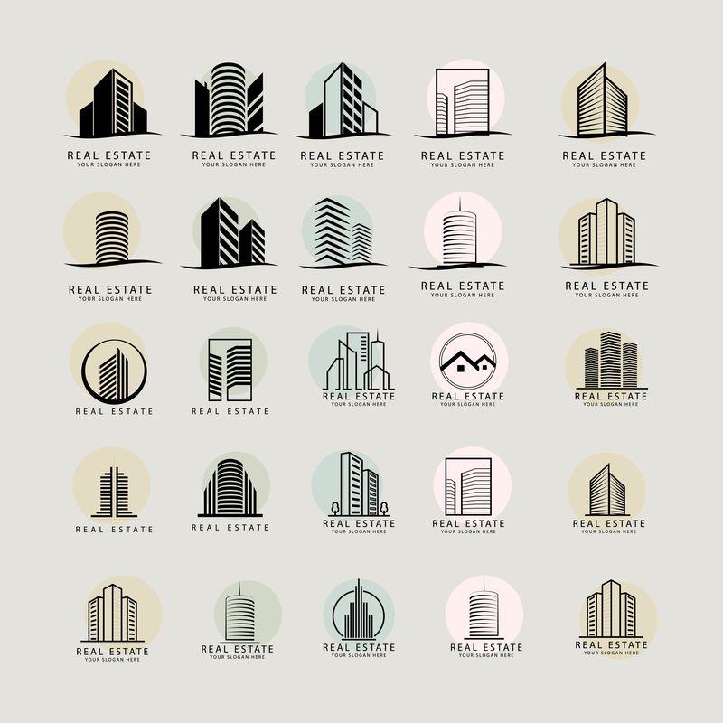 房地产标志设计向量集