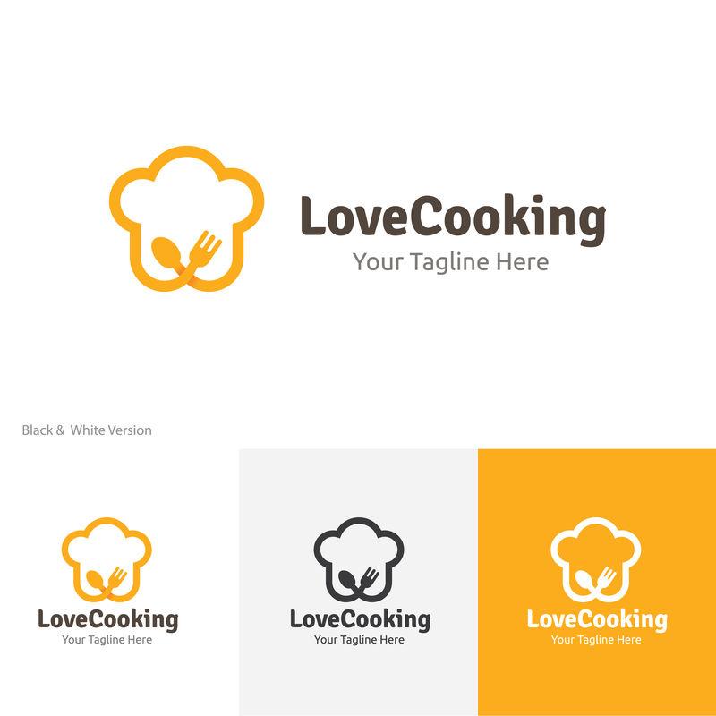 喜欢烹饪、餐厅和小酒馆标志模板
