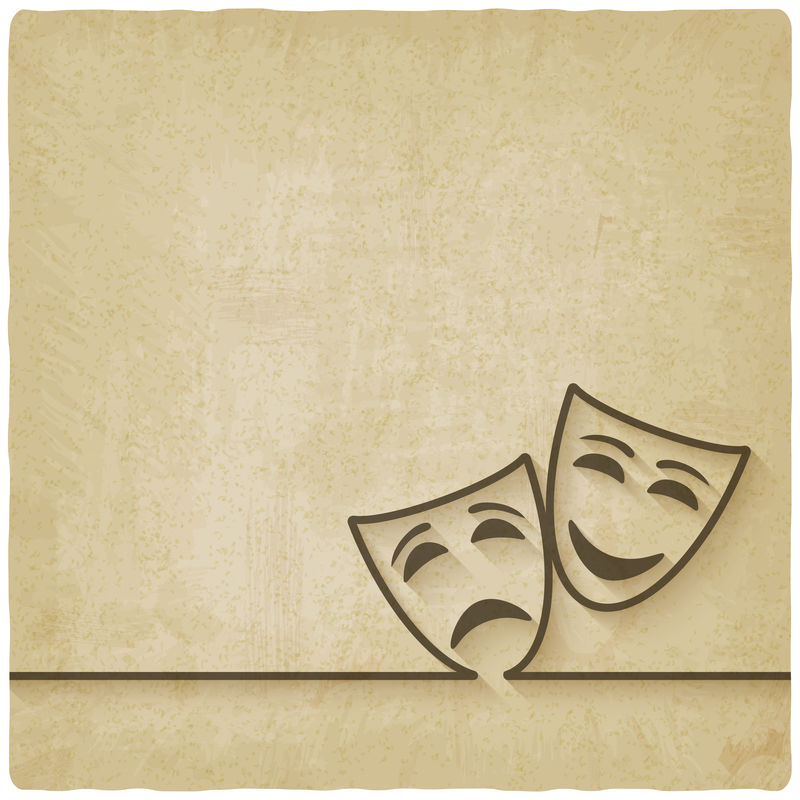 喜剧和悲剧掩盖了旧的背景