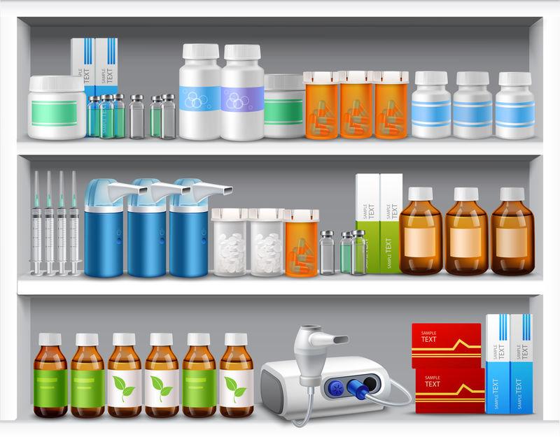 真实的药房货架