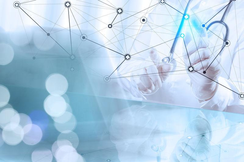 智能医疗医生手绘网络,手术室为