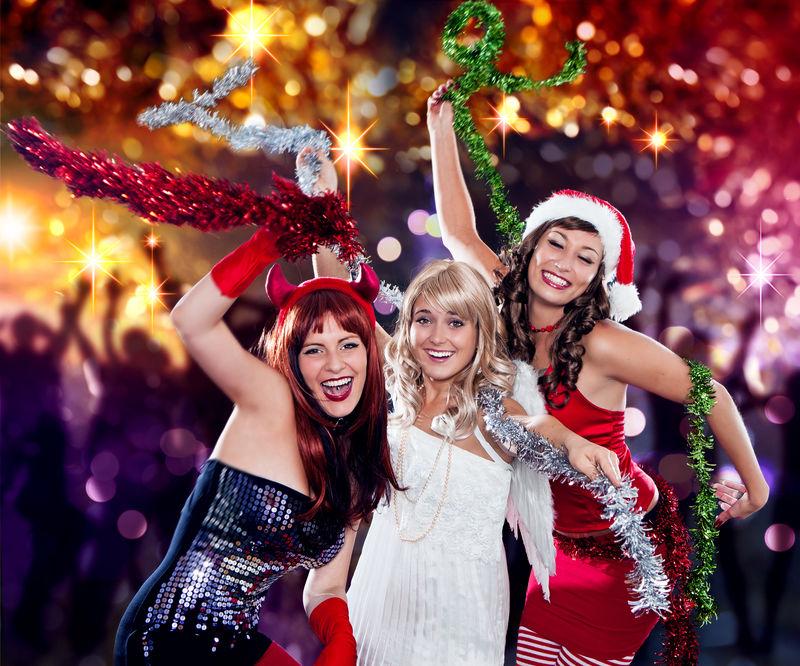 不同的三重唱06/魔鬼-天使和圣诞老人在迪斯科舞厅跳舞