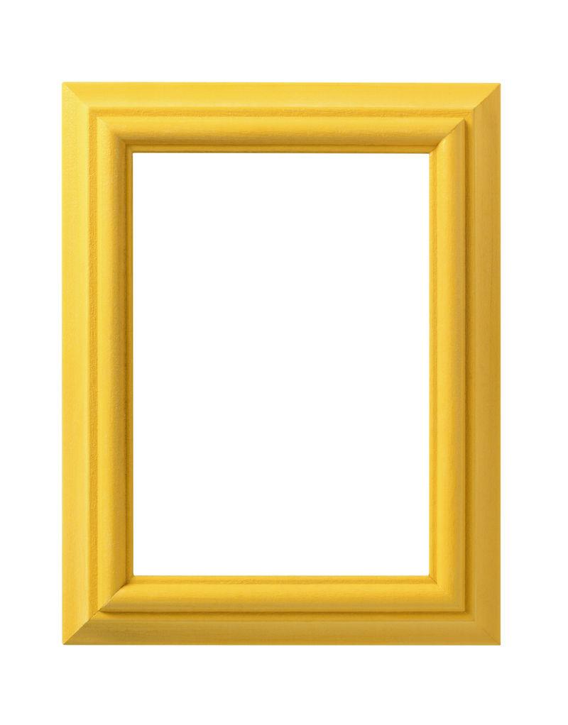 白色背景上的金色框架