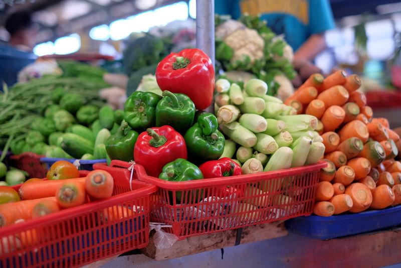 市场上吃的新鲜蔬菜