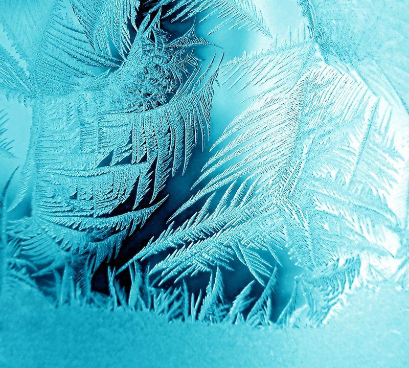冰冷的自然图案