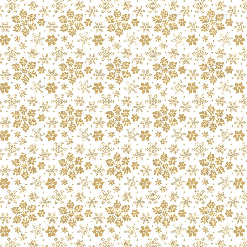 锦缎无缝装饰-传统的光栅和金色图案-白色、米色和中性色的经典东方图案