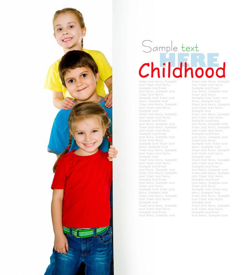 可爱的小孩有白色的背景