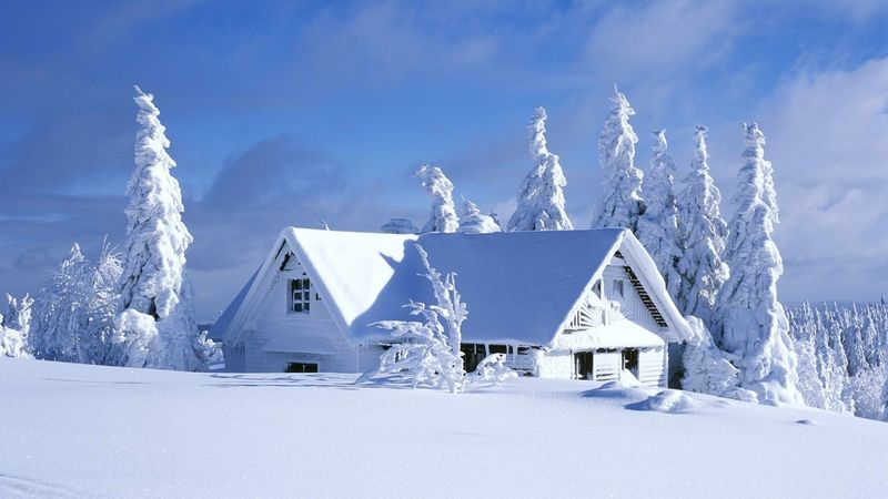 捷克共和国奥利克霍里冬季别墅