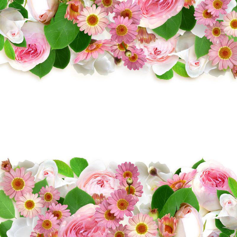 花卉排列斜对齐
