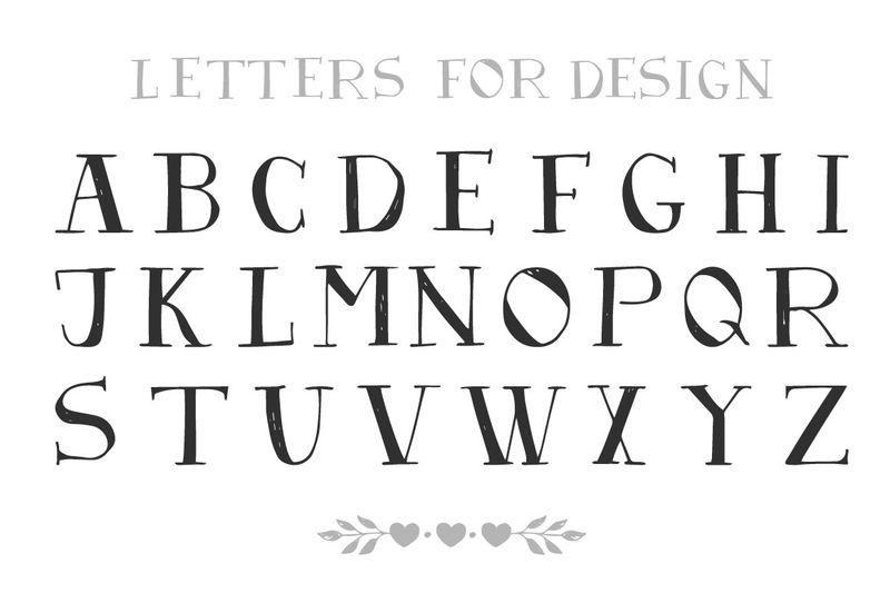 英语字母表-手工制作的