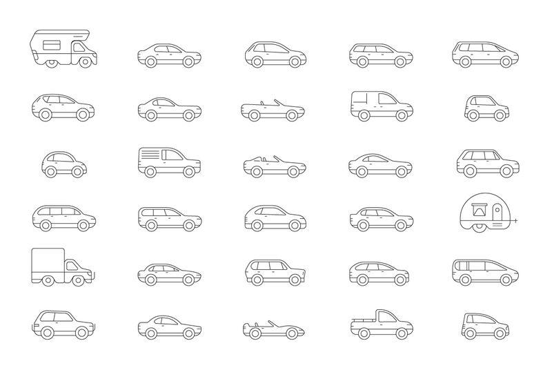 汽车图标矢量