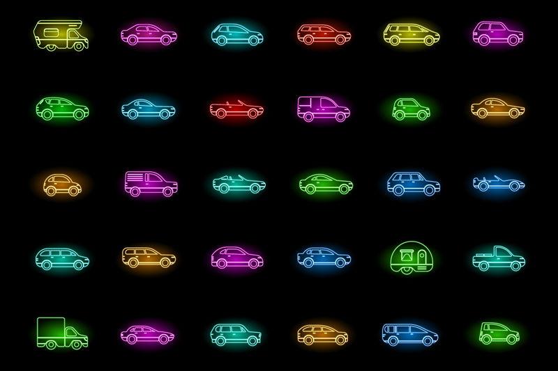 矢量交通运输车辆图标