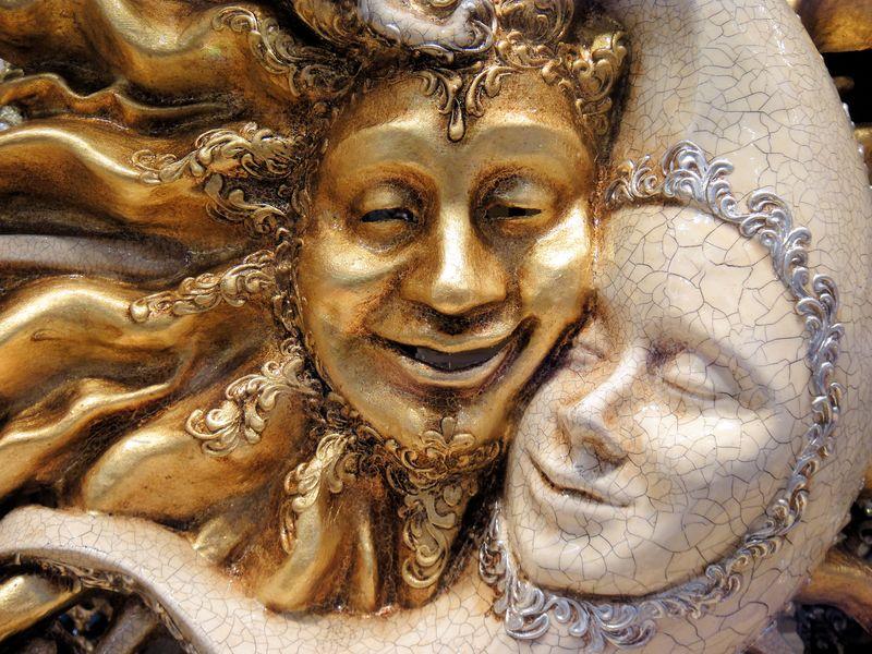 意大利威尼斯一家商店的面具