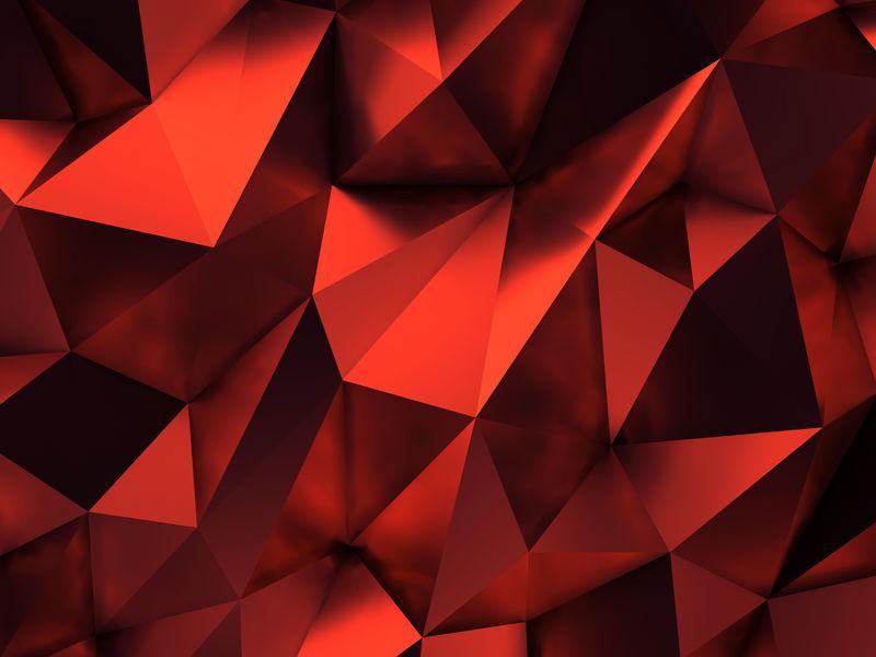 红色抽象背景三维渲染