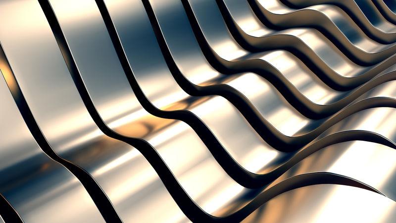 抽象金属波背景三维演示