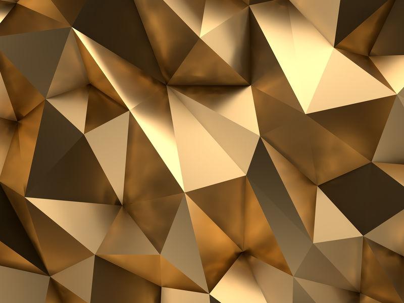 豪华VIP黄金抽象背景3D渲染