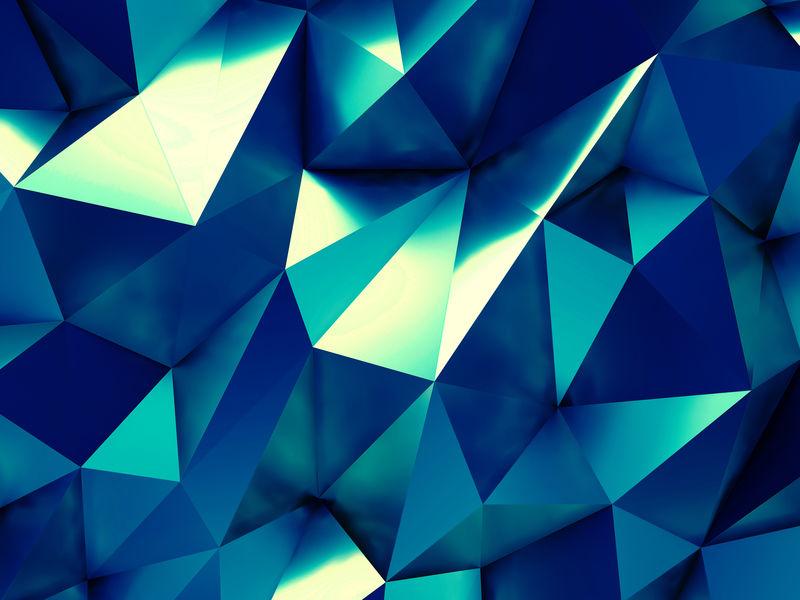 蓝色业务抽象背景三维渲染