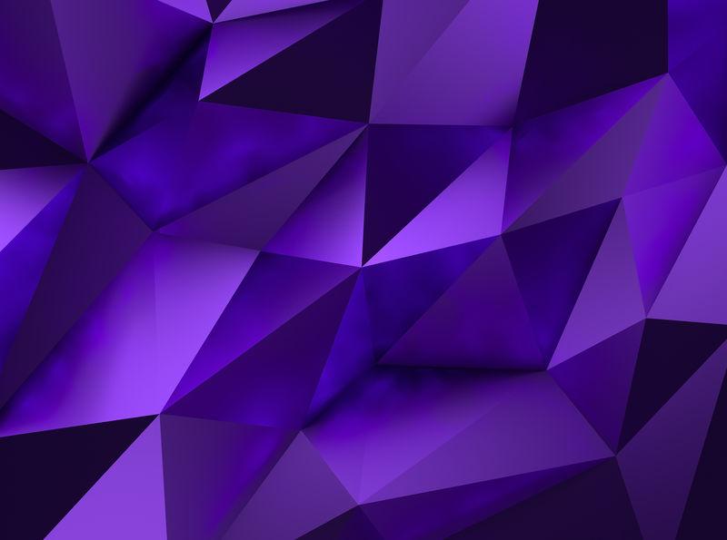紫色Low Poly Background
