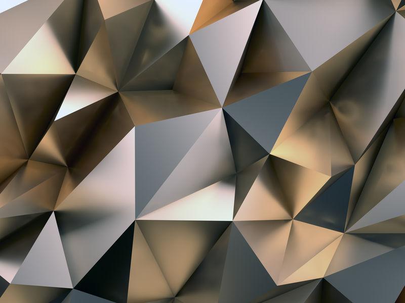 抽象金属背景三维插图