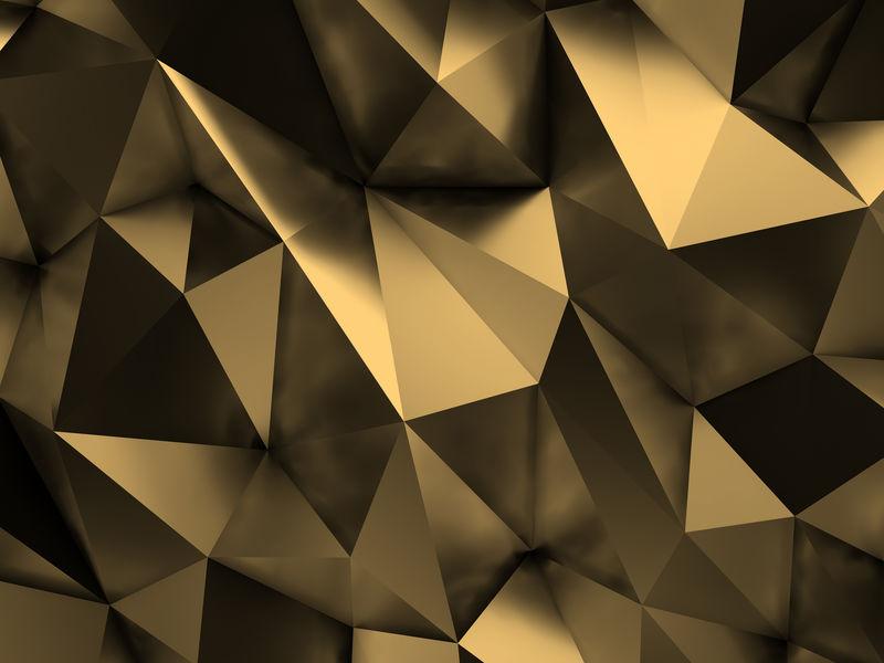 棕色抽象背景三维渲染