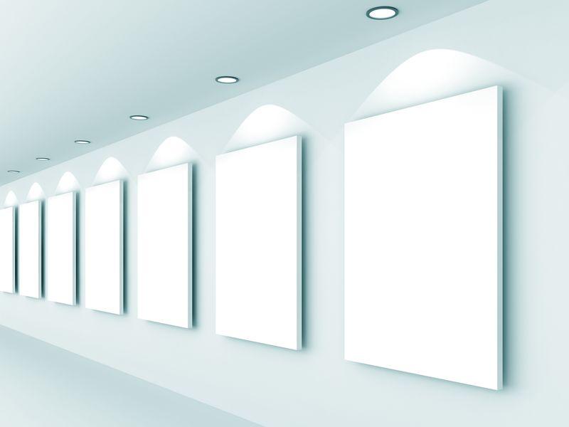 一个空白图片展览-三维渲染图像
