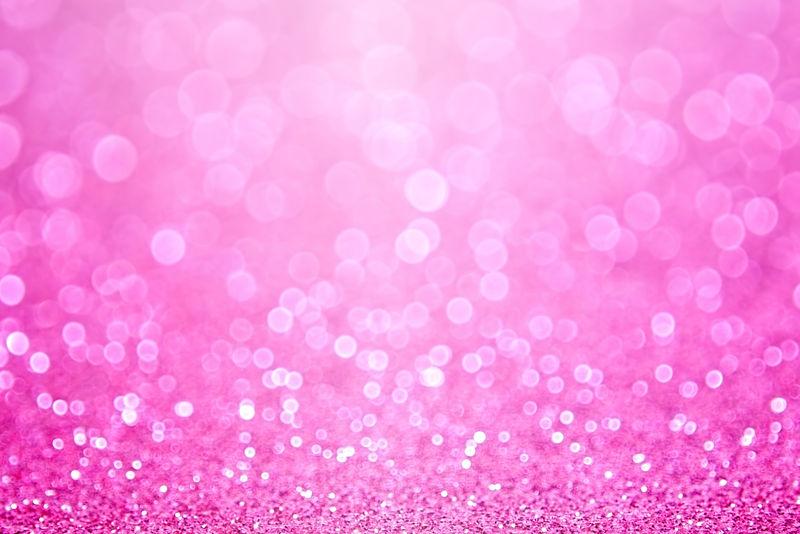 抽象粉色闪光彩纸背景或生日贺卡邀请函、少女公主派对图案、小女婴公告、销售海报、新娘送礼会或婚礼背景