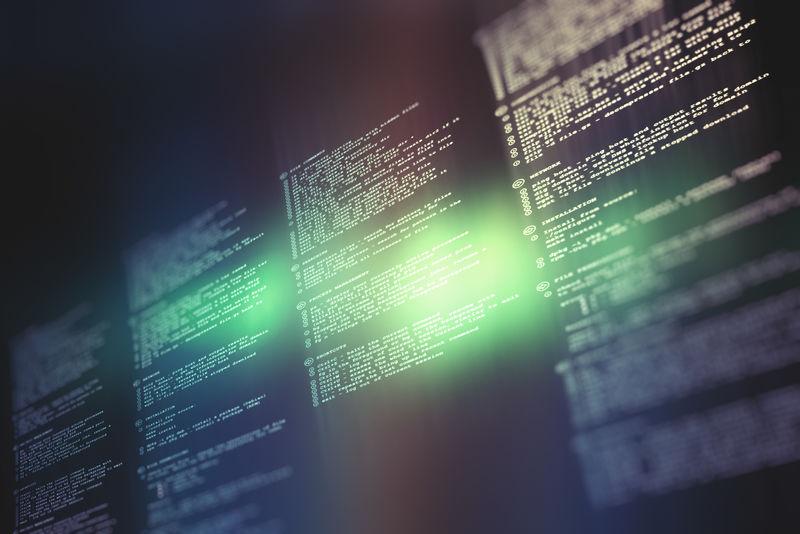 软件开发者和计算机脚本的编程代码抽象技术背景